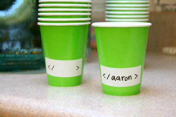 Geeky Green Cups
