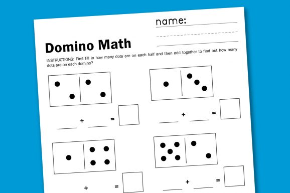 Domino Math Free Printable Worksheet