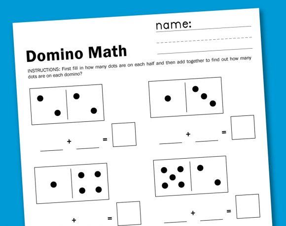 Domino Math Free Printable Worksheet