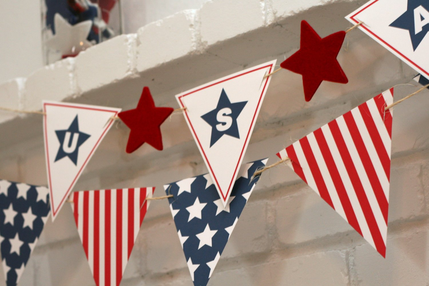 Stars + Stripes Banner - Paging Supermom