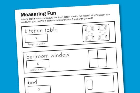 Free Math Measuring Worksheet