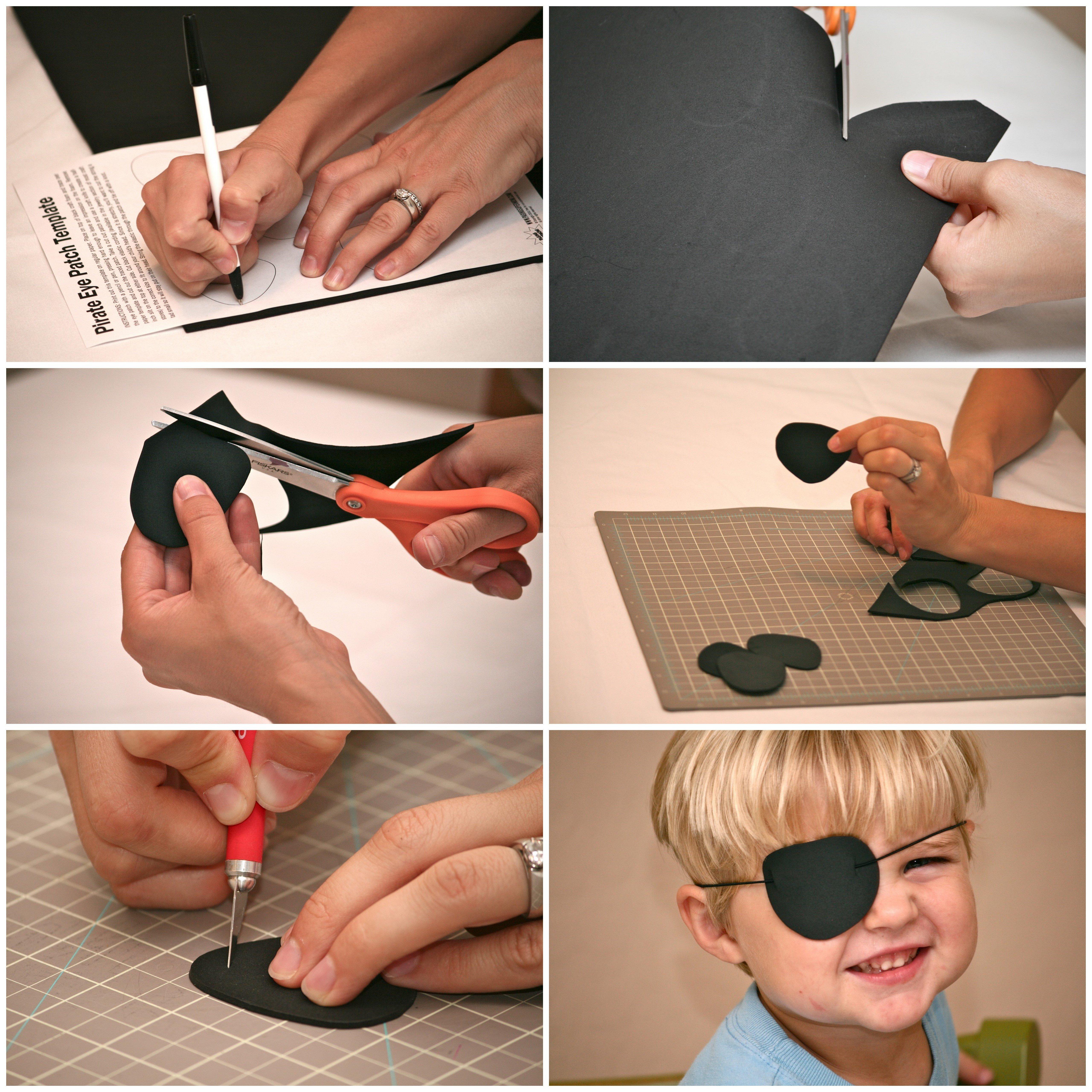 Как сделать пиратскую повязку на глаз своими руками