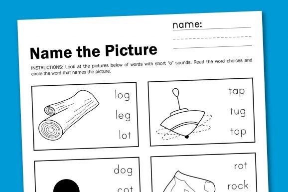 Name The Picture Short O Paging Supermom – Short O Worksheets