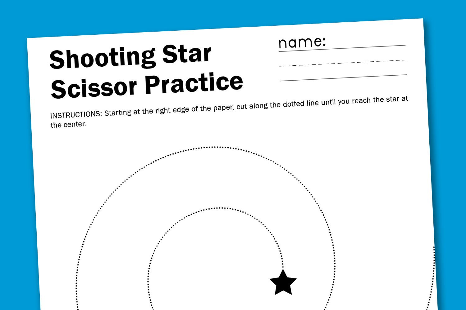 Shooting Star Scissor Worksheet Paging Supermom