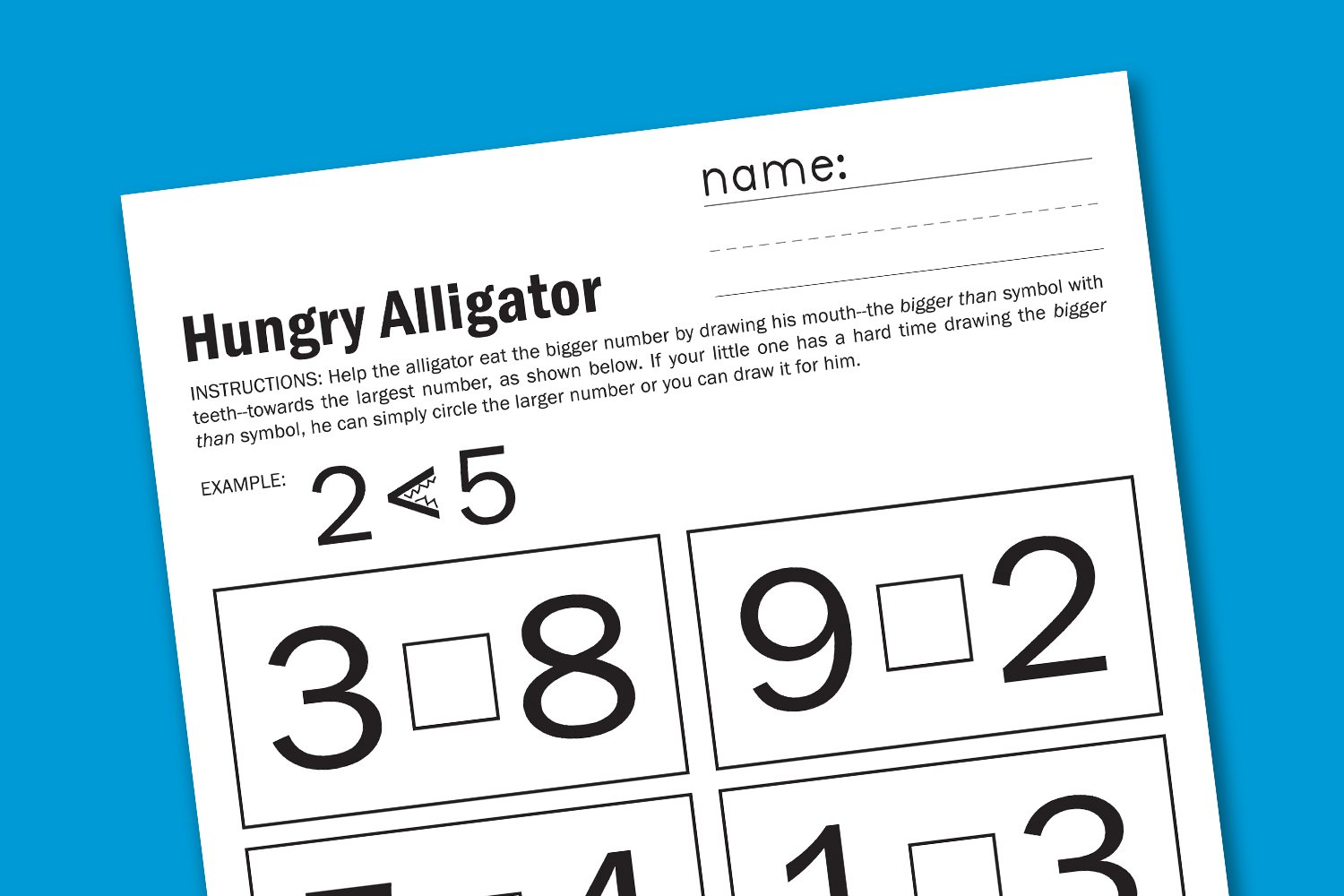 E Ddd F Aeb F A B furthermore Bigger Than Early Math Worksheet Free Printable together with Bigger Than Early Math Worksheet Free Printable X moreover De F D Aa E Dd Ba Bbb Math Worksheets Learning Activities likewise  on hungry alligator math free printable worksheets paging supermom bigger