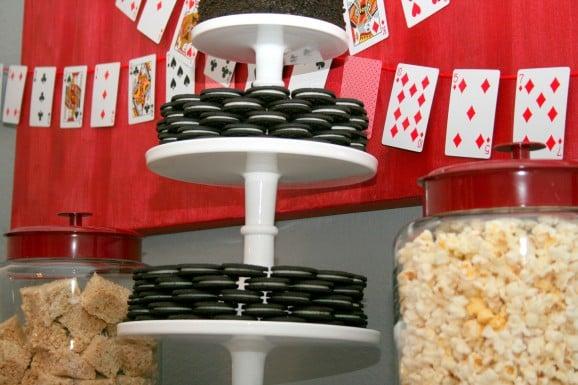 Oreo Poker Chip Birthday Cake