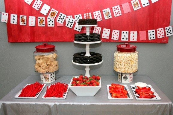 Gambling Party Food Table