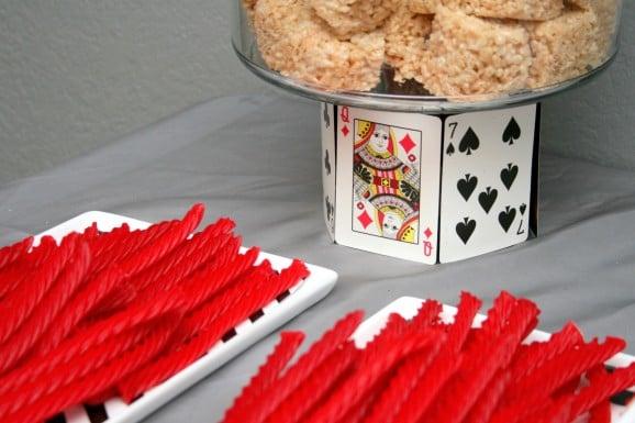 Las Vegas Night Playing Cards Pedestal