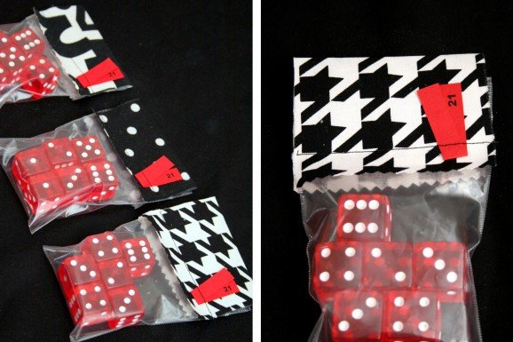 Dice Party Favors for Casino Theme Birthday Party