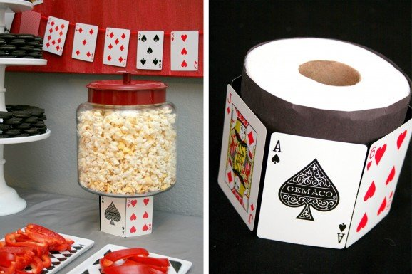 House Of Cards Casino Night Party Decor