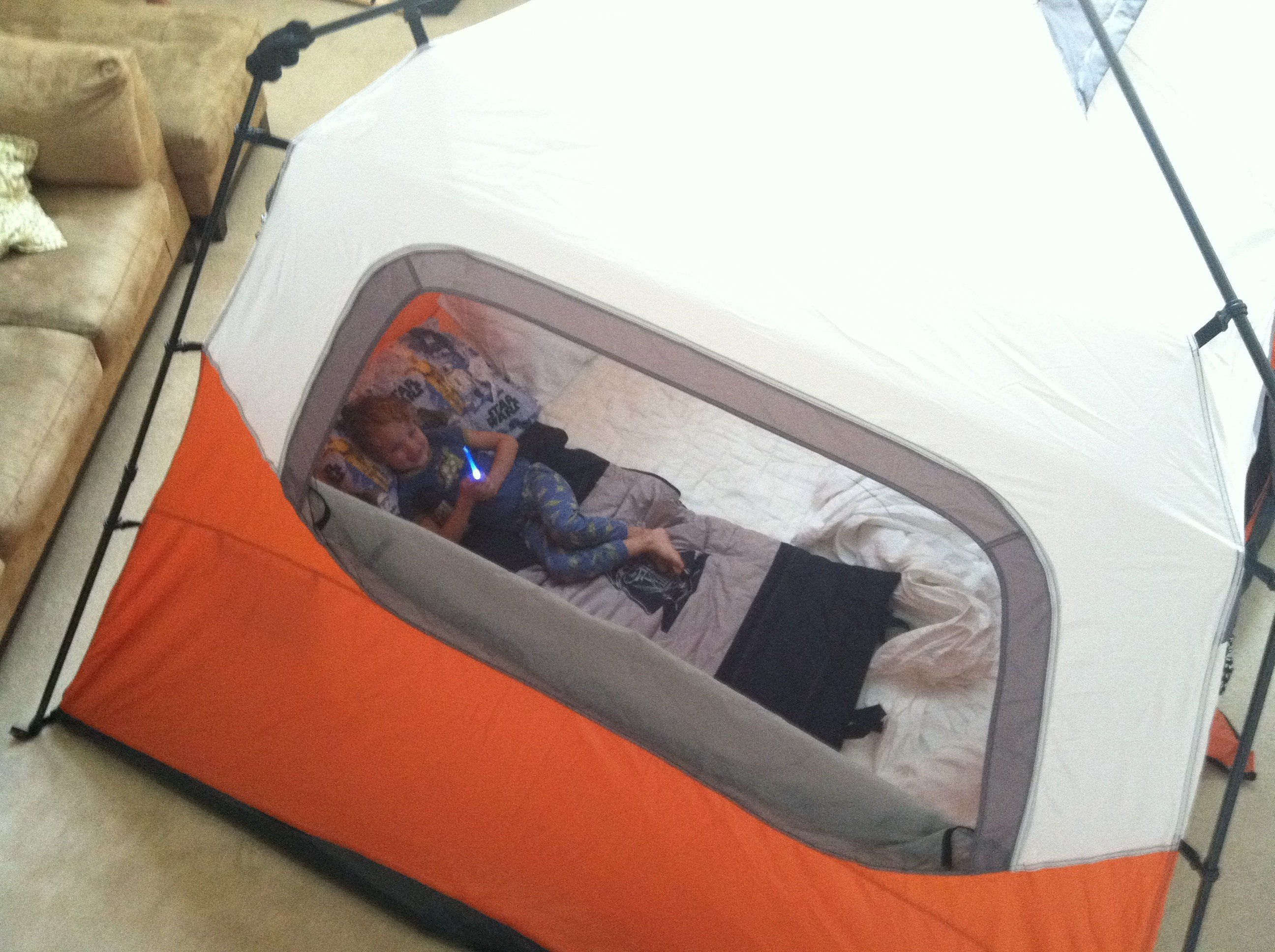 We ... & Living Room Camp-out - Paging Supermom