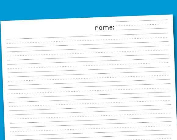 Free Primary Handwriting Paper Download