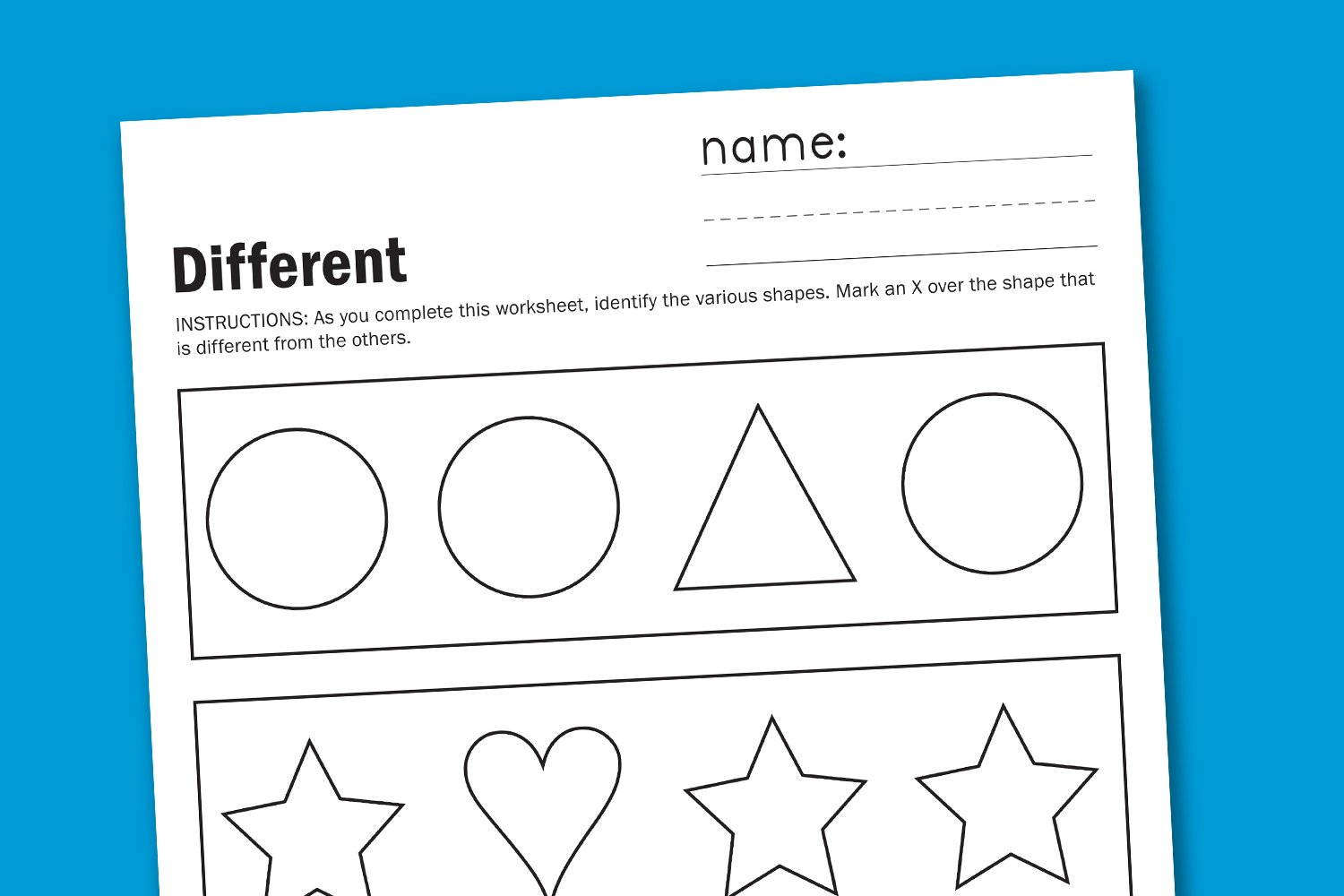 Colouring shapes activities - While