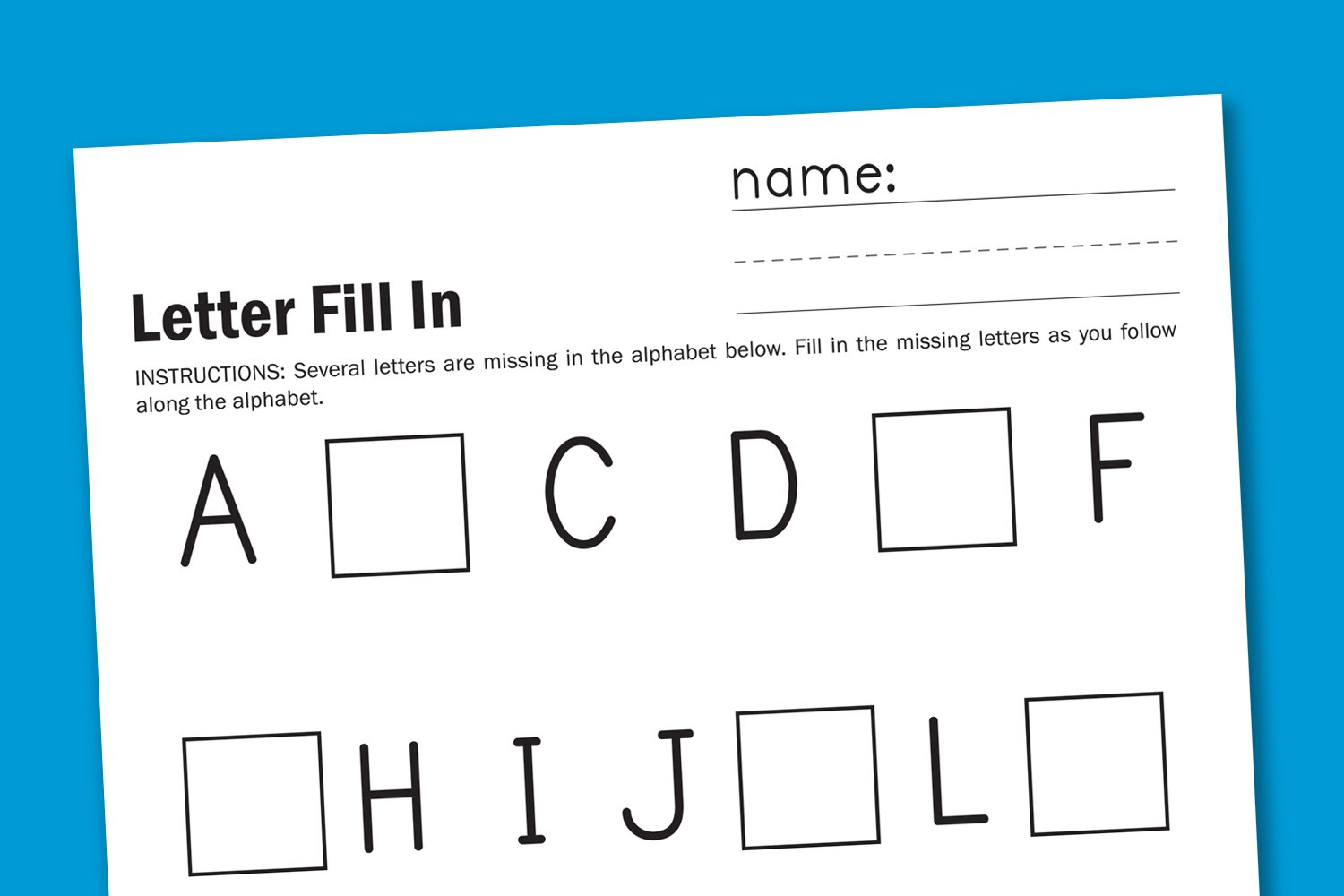 Alphabet Fill In Paging Supermom – Alphabet Review Worksheets