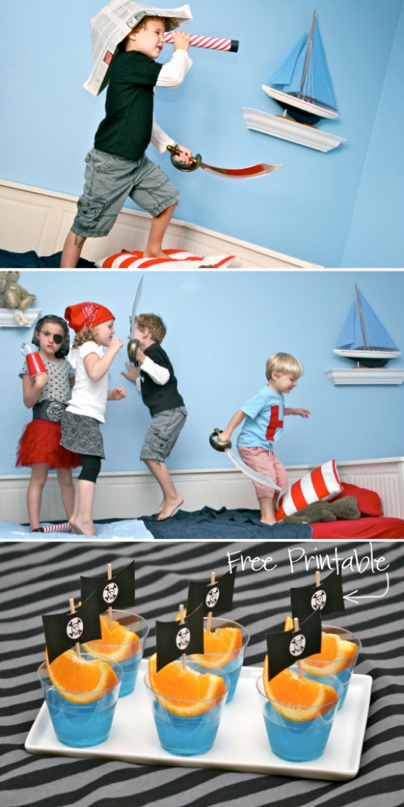 A bunch of great free printables for a Pirate Party via @PagingSupermom