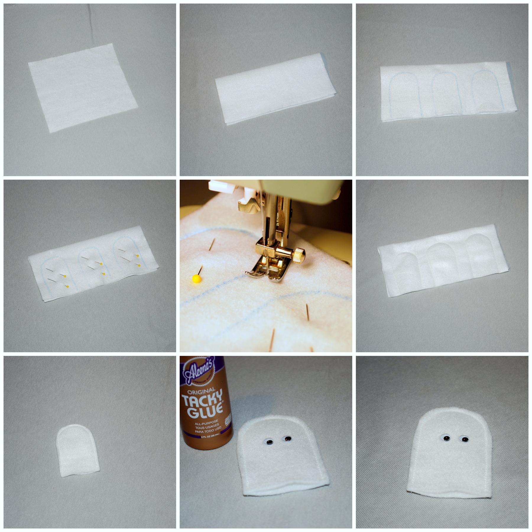 ghost finger puppet tutorial