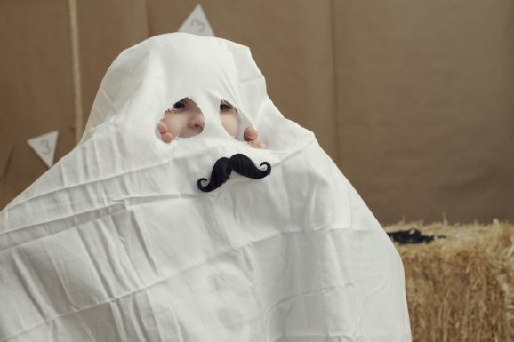 Ghost Costume With Mustache