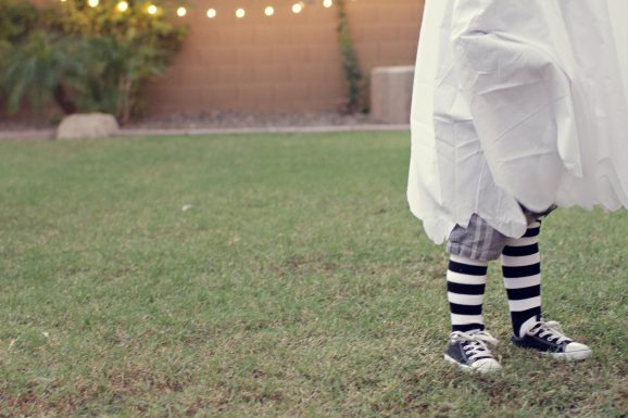 Ghost With Striped Socks