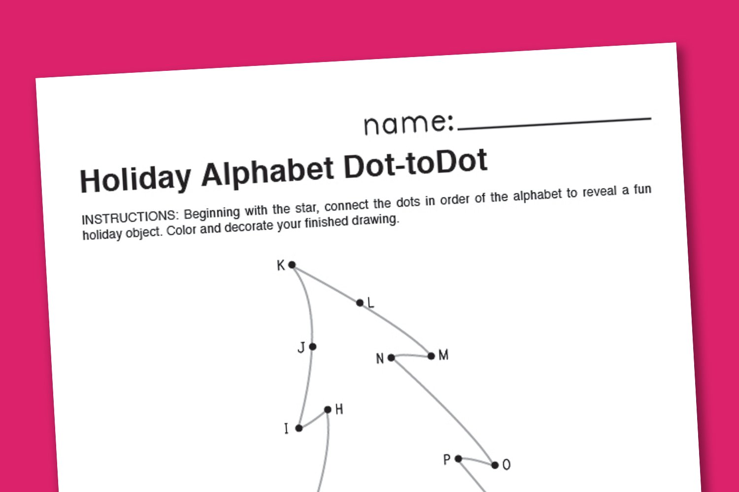 Christmas Alphabet Dot-to-Dot - Paging Supermom