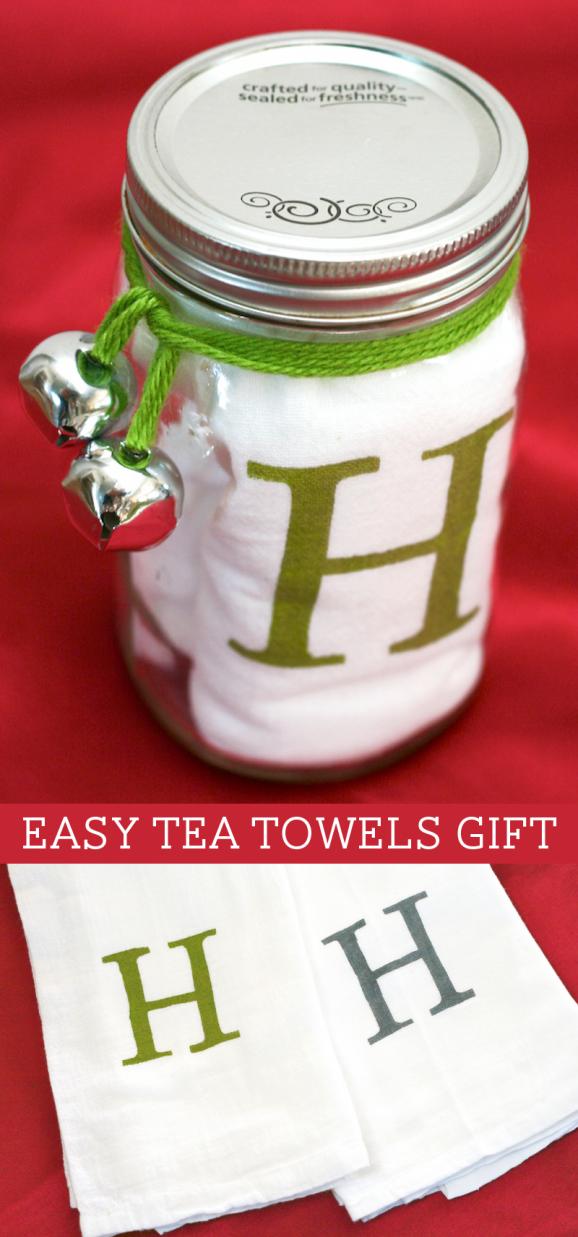 MAKE A GIFTMonogram Tea TowelsPaging Supermom