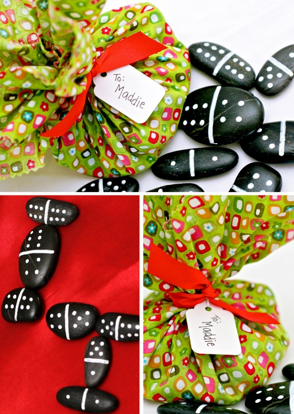 Great Homemade Gift - Pebble Domino Game