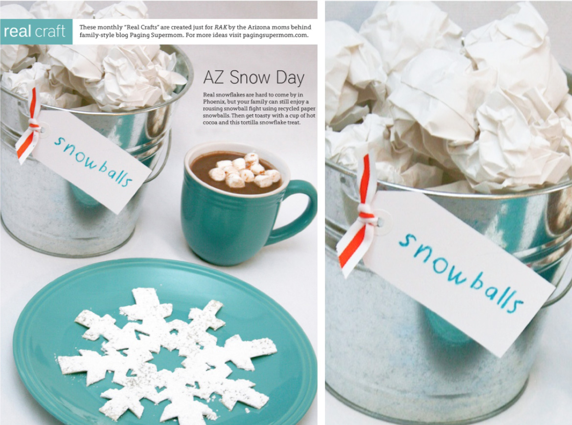 AZSnowDay for Raising Arizona Kids Magazine
