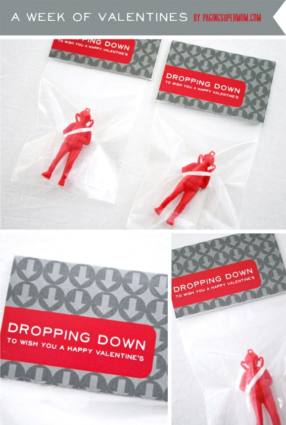 Paratrooper Valentine (with Free Printable) by Paging Super Mom