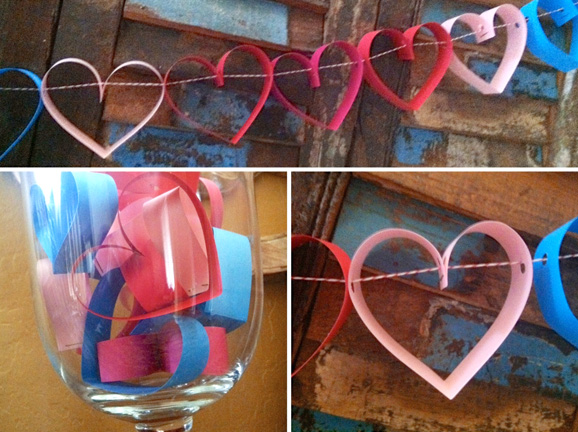 Heart Garland Aimee Entry Table