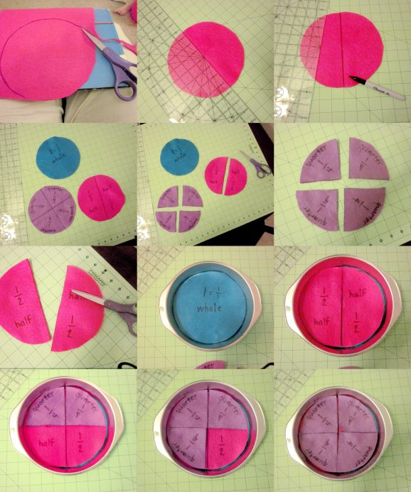 DIY Fraction Pie Puzzle Tutorial