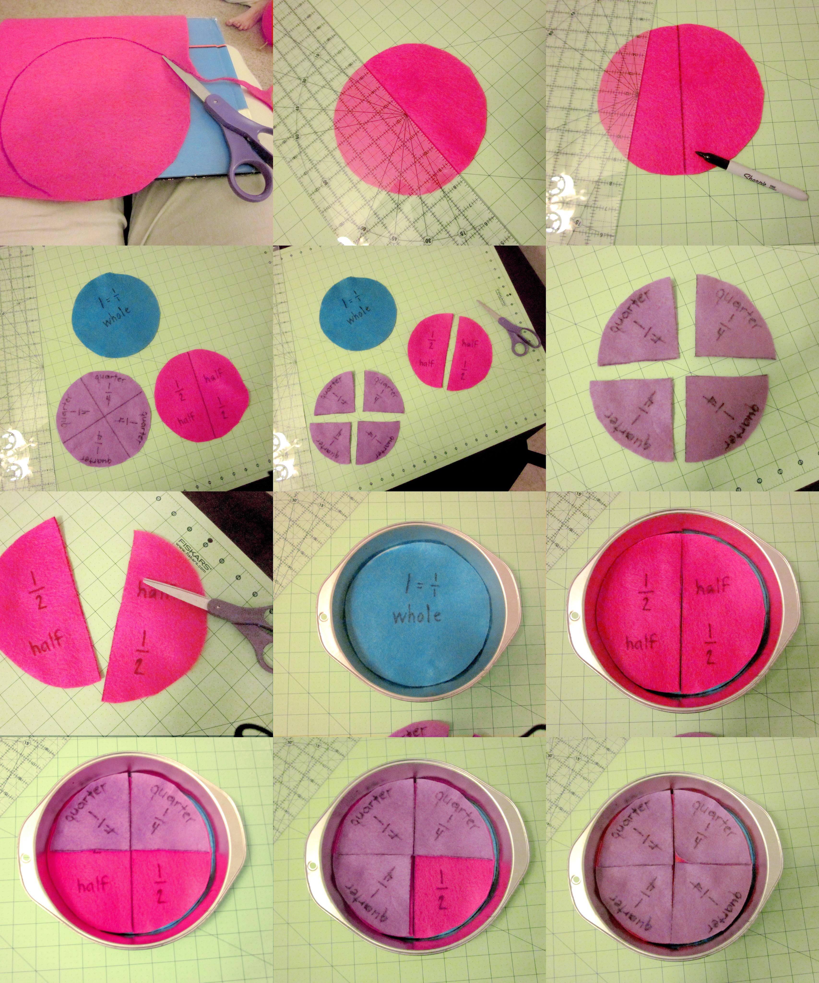 Fraction Pie Puzzles Diy Fraction Pie Puzzle