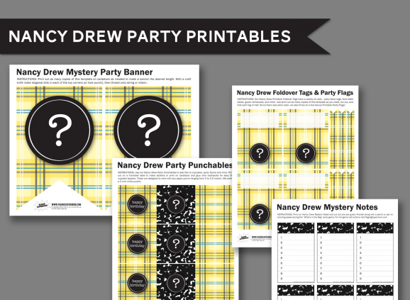 Nancy Drew Free Printable Party Collection