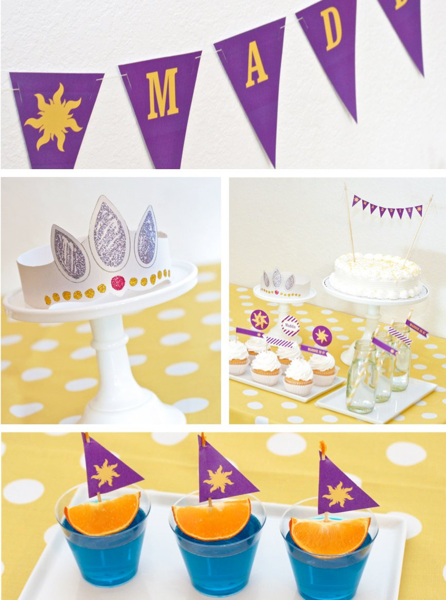 Think Anyone Would Ever Need To Host Their Own Rapunzel Birthday Party Yes Even A Printable Crown And Were Giving Few Of Them Away FREE