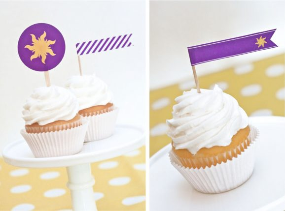Printable Tangled Cupcake Toppers
