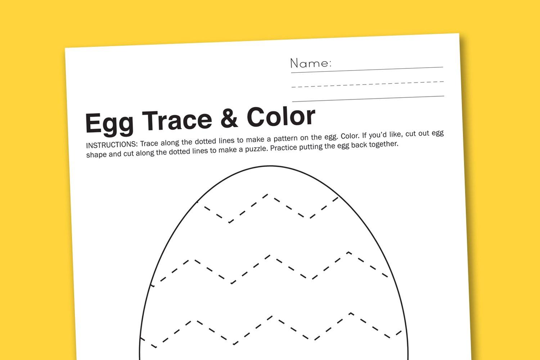 worksheet Trace Name Worksheets egg trace color preschool worksheet paging supermom worksheet