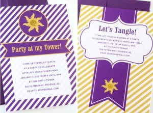 Easy Tangled Birthday Party Invitations