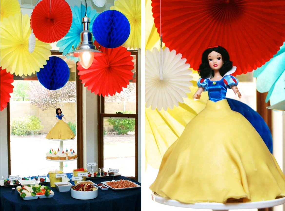 Snow white birthday party decorations for White party decoration ideas