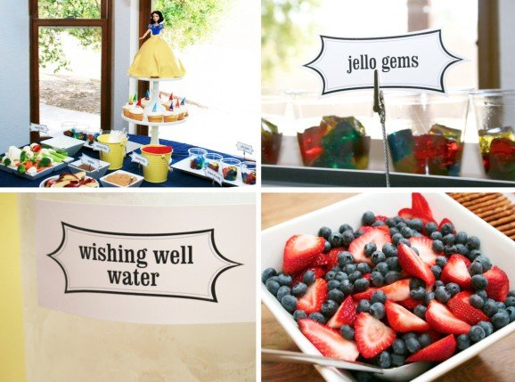 Snow White Birthday Party Fun Food Ideas #SnowWhite #PartyFood