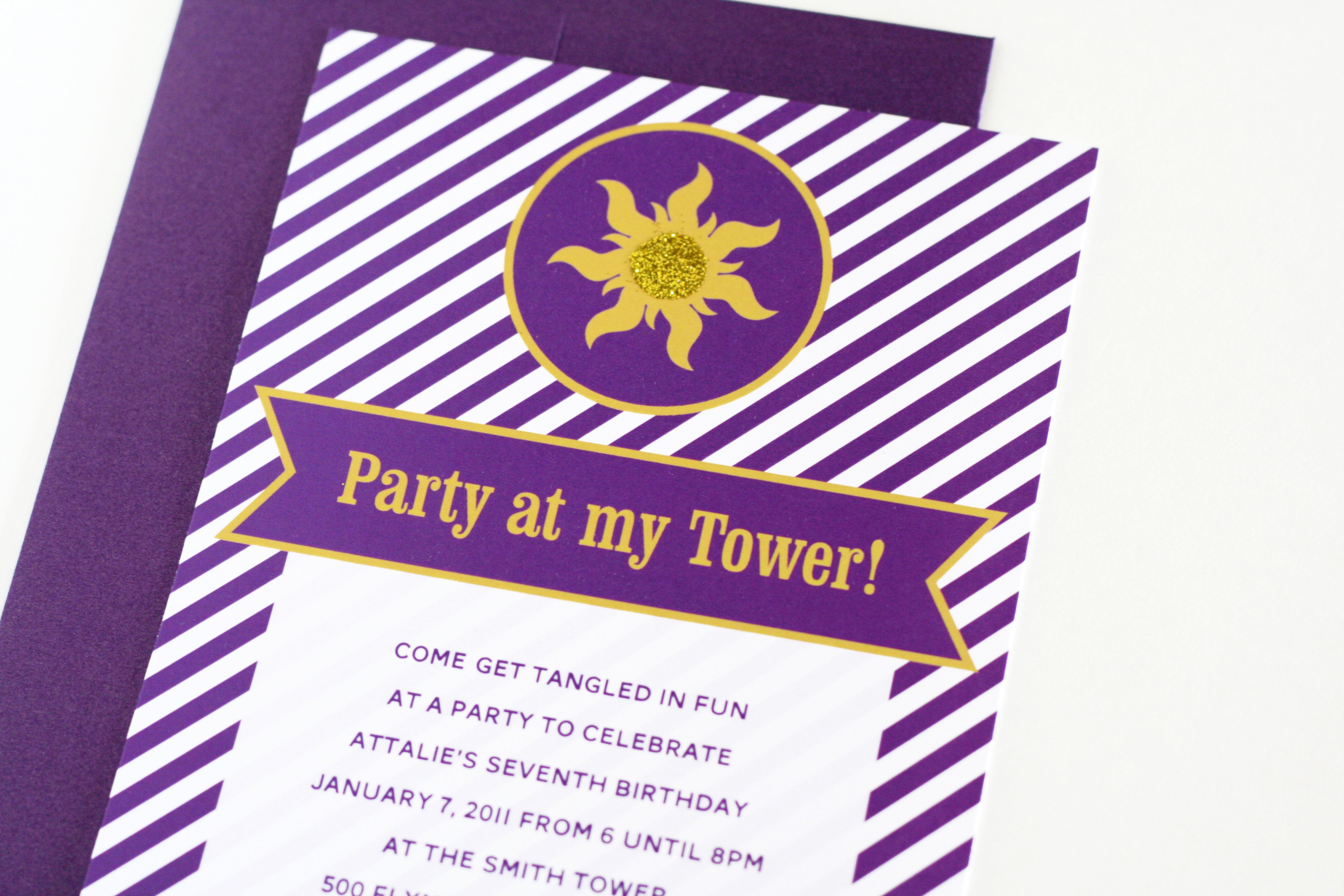 Easy Tangled Party Invites Paging Supermom – Rapunzel Party Invitations