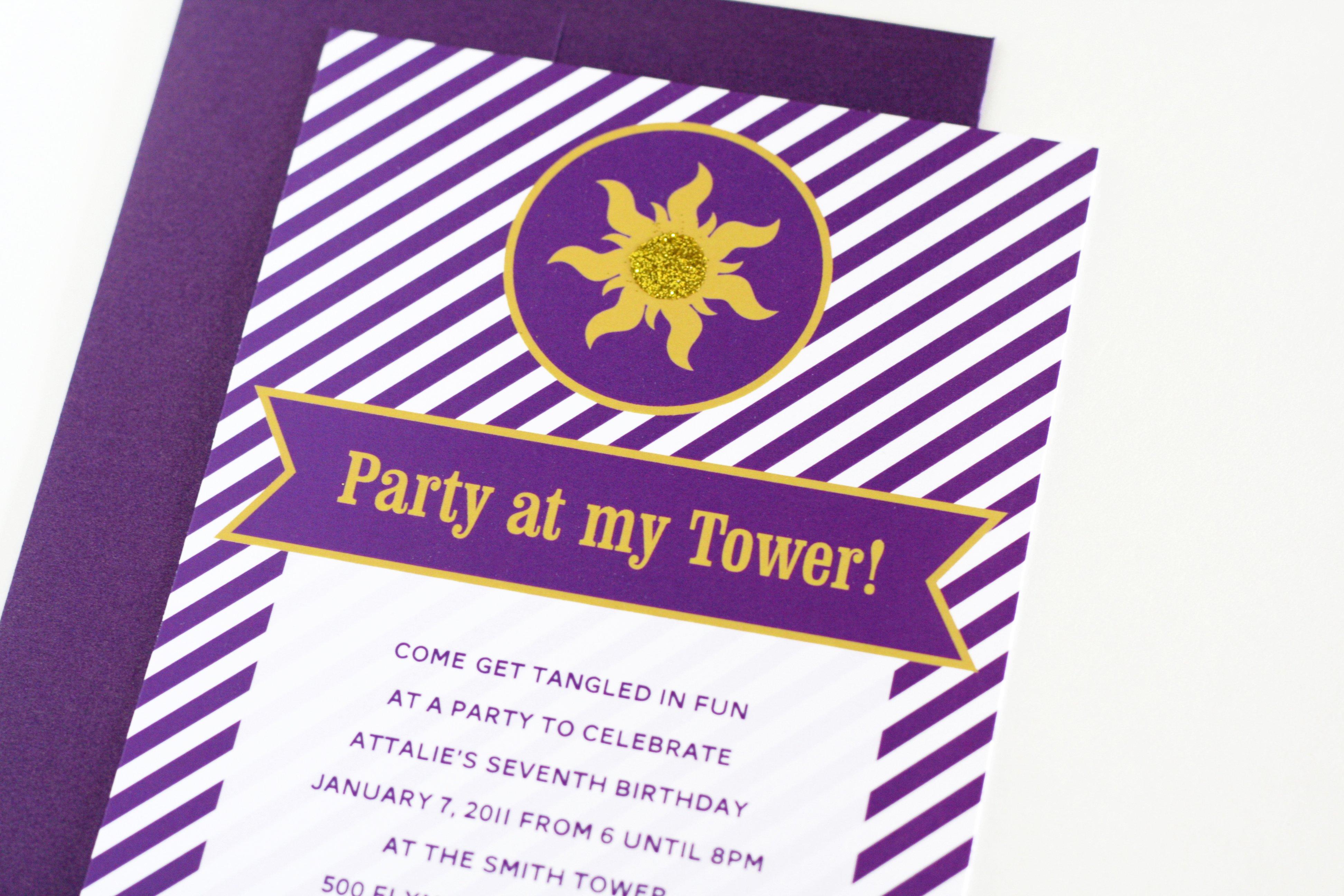 easy tangled party invites paging supermom tangledsunbirthdaypartyinvitations