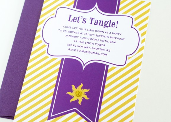 Free Tangled Birthday Party Invites
