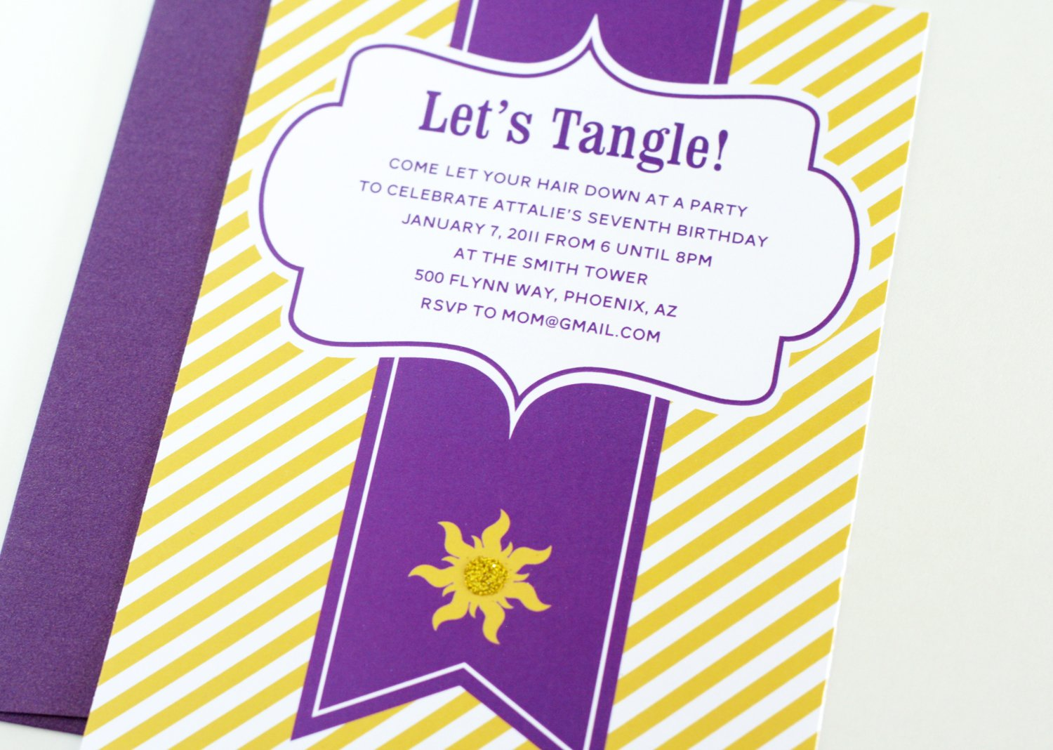 Easy Tangled Party Invites - Paging Supermom