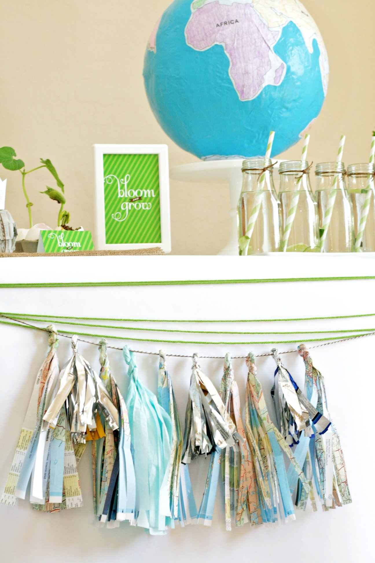 Recycled Party Tassels - Paging Supermom f62667d2fe