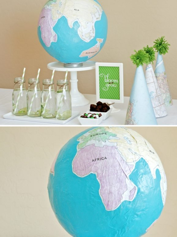 Free Printable Globe Labels for Making Your Own World Ball Globe Earth