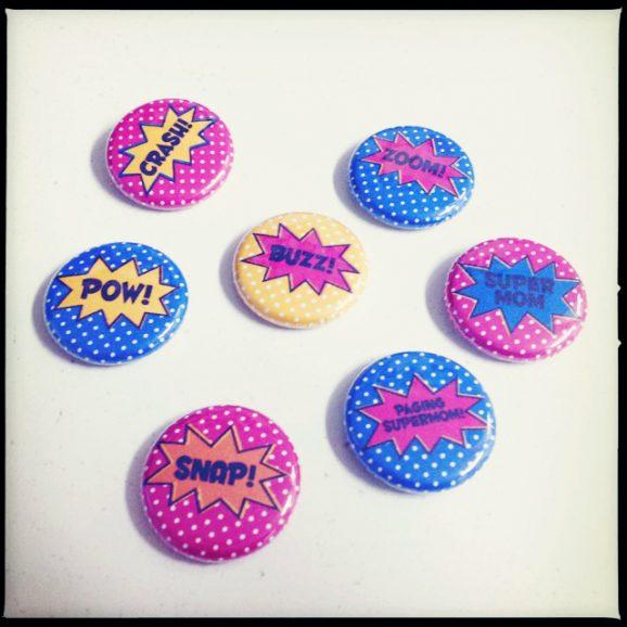 Paging Supermom Mini Flair Pins