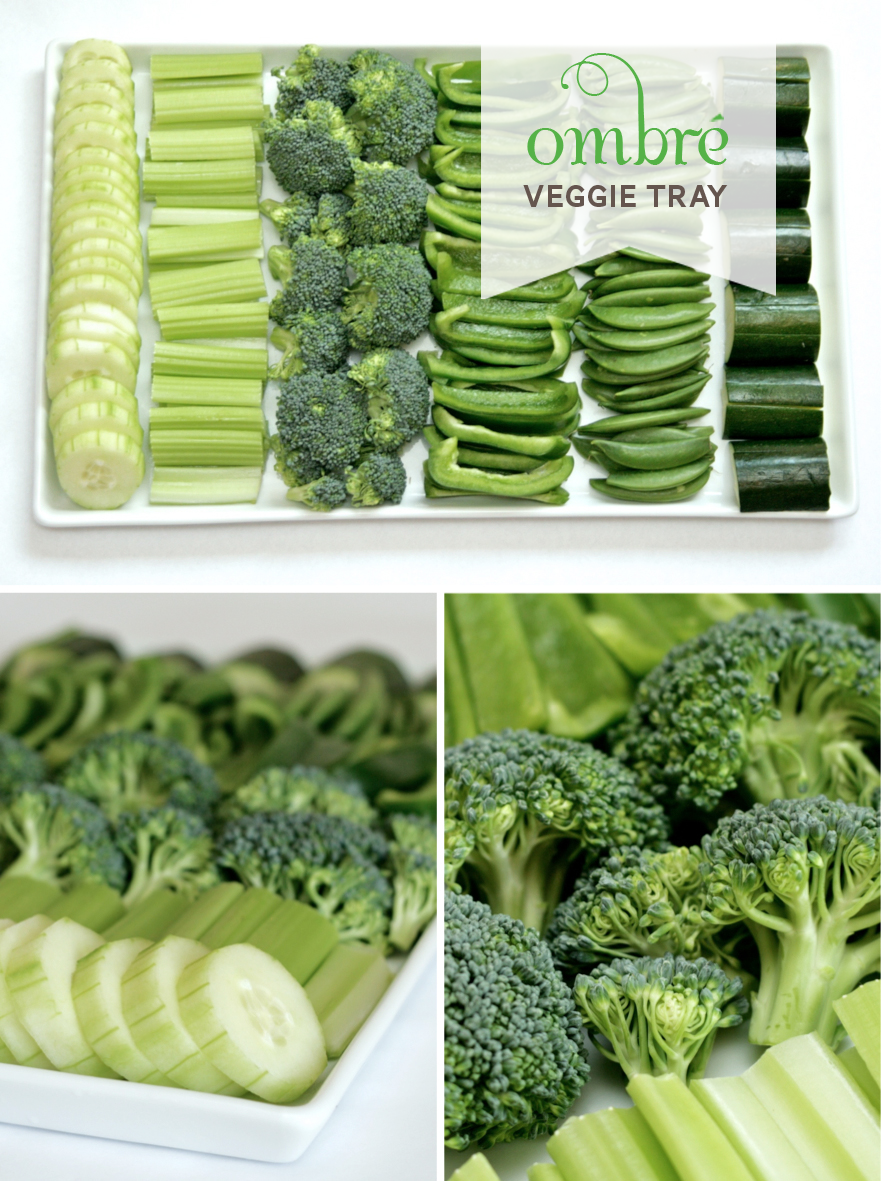 Ombre Veggie Tray for Earth Day PagingSupermom.com
