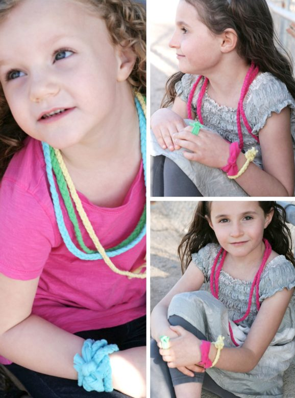 How to Recycle Knit Tees into Necklaces Bracelets and other Fun Accessories