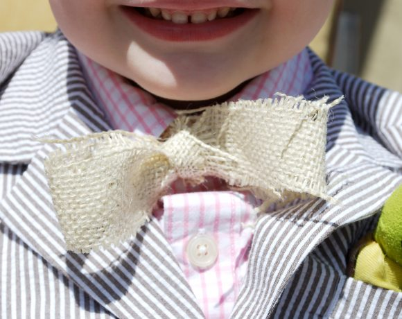 No-Sew Burlap Bow Ties