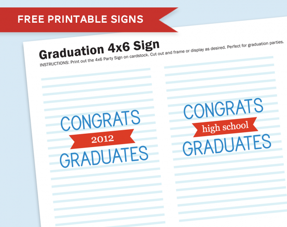 More Graduation Party Printables!