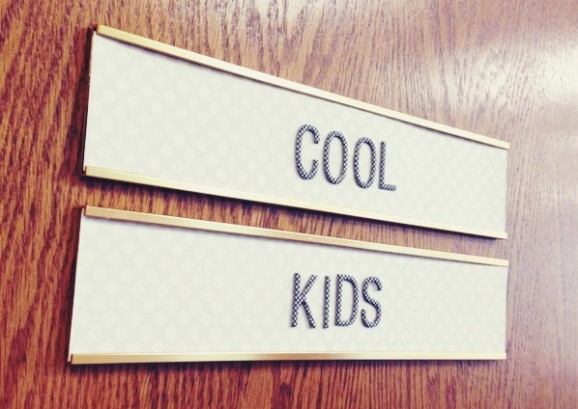 American Crafts Designers' Offices COOL KIDS sign