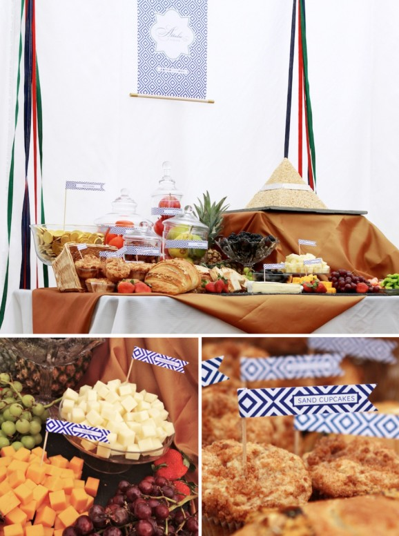 Egyptian Brithday Party Food Spread Fit for Royalty